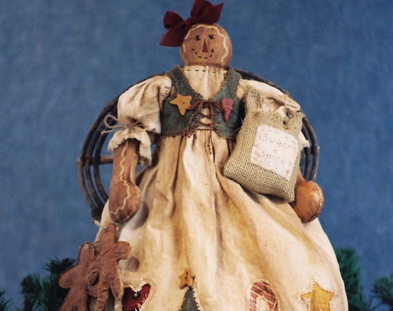Just An Old Cookie - Mailed Cloth Doll Pattern Primitive Holiday Gingerbread Doll