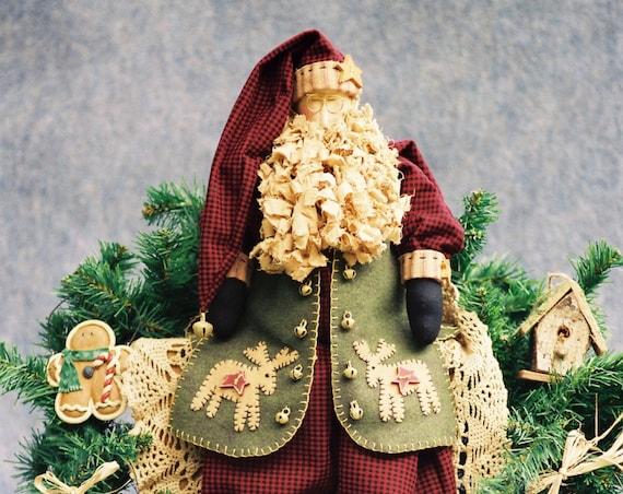 Nicholas - Mailed Cloth Doll Pattern - Christmas Folk Art Santa