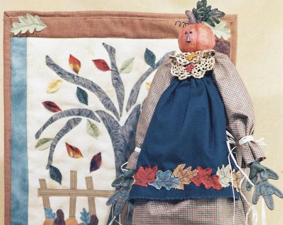 Autumn - Mailed Cloth Doll Pattern - Autumn-Thanksgiving Pumpkin Head Doll