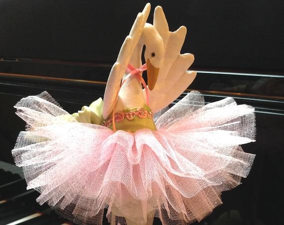 Swan Lake - Cloth Doll E-Pattern Beautiful 12in Swan Classical Ballerina