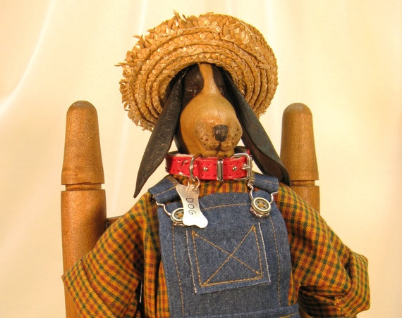 Hound Dog - Mailed Cloth Doll Pattern - Good Ol Boy Country Hound Dog