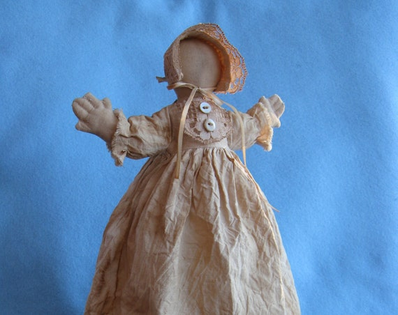 Hannah Prairie Doll - Cloth Doll E-Pattern Rustic 14in Primitive Prairie Doll epattern