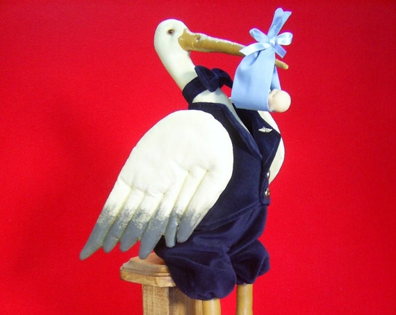 Special Delivery - Cloth Doll E-Pattern - 20in Stork Delivering Baby Epattern