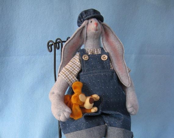 Billy - Mailed Cloth Doll Pattern 19inch Big Boy Bunny Rabbit