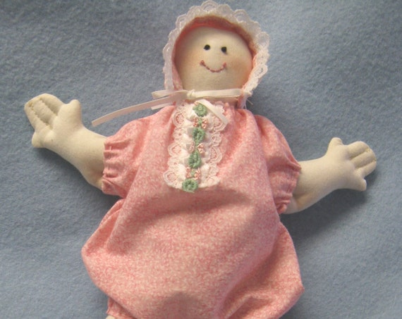 Baby's First Dolly - Mailed Cloth Doll Pattern 10 inch Baby Doll (very easy)