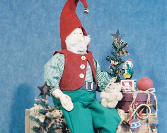"OOAK Handmade Collectible 24"" Elf Christmas Doll"