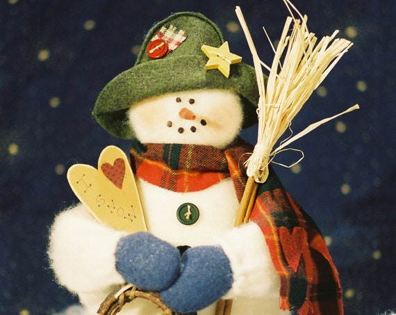 OOAK Original Handmade Collectible Snowman Doll