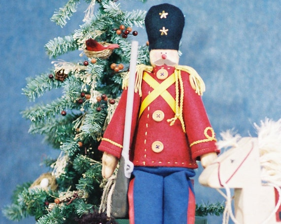 Collectible Vintage Handmade OOAK Christmas Toy Soldier Doll