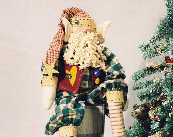 """Logan the Christmas Elf Cute 25"""" Digital Doll Epattern"""