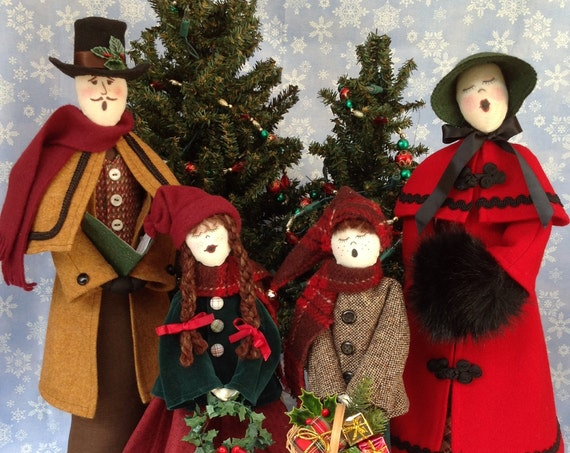 Caroler collection - Mailed Cloth Doll Patterns Group Priced