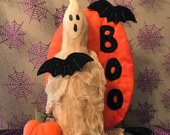 """Cloth Doll E-Pattern """"Spooky""""  Halloween Ghost Epattern"""