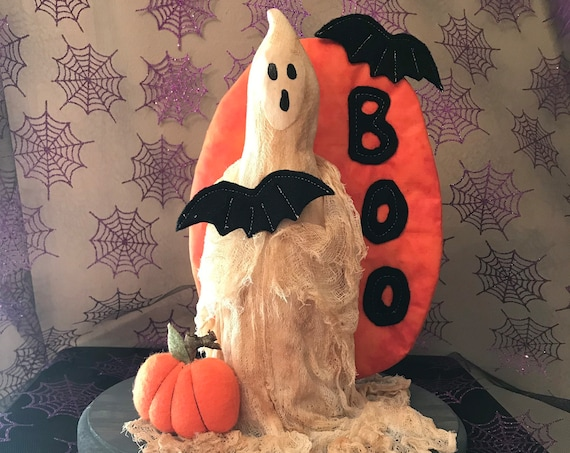 """Mailed Cloth Doll Pattern """"Spooky""""  Halloween Ghost"""