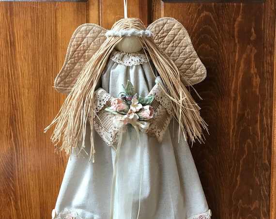 "Mailed Pattern ""Joie"" 20"" Hanging Country Victorian Angel Pattern FH-174"
