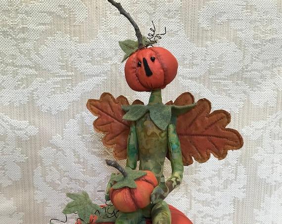 The Pumpkin Keeper PDF Digital Download Epattern Halloween Fall Art Doll