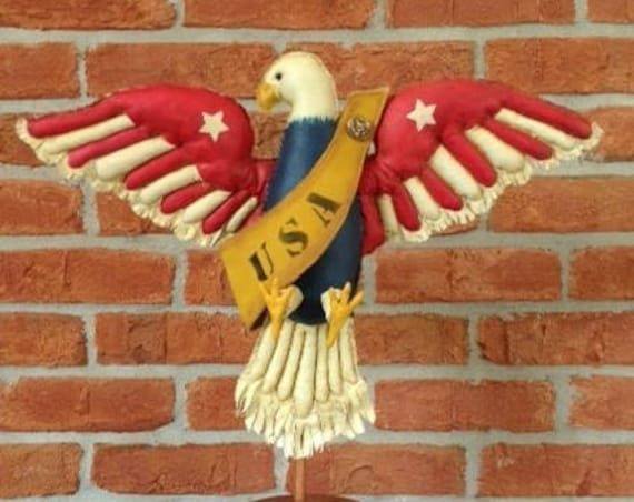 Freedom American Eagle - Cloth Doll E-Pattern American Folk Art Eagle