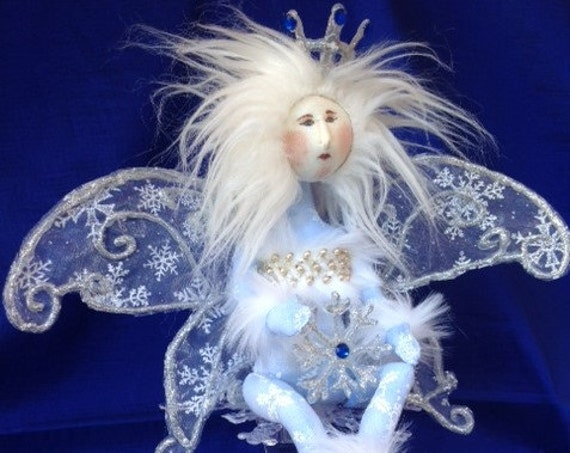 Snowflake Fairy - Cloth Doll E-Pattern Amazingly Beautiful Winter Wonderland Snow Fairy