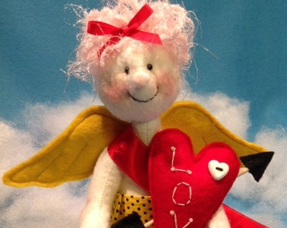 Cupid - Mailed Cloth Doll Sewing Pattern Cute little Valentine Cupid Angel