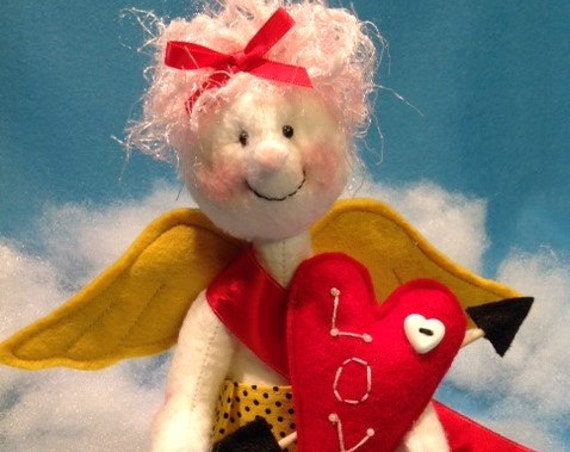 Cupid - Cloth Doll E-Pattern Cute little Valentine Cupid Angel