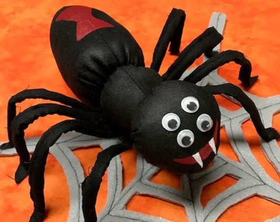 Halloween Spider & Web Cloth Doll E-pattern Home Decor, or Wreath