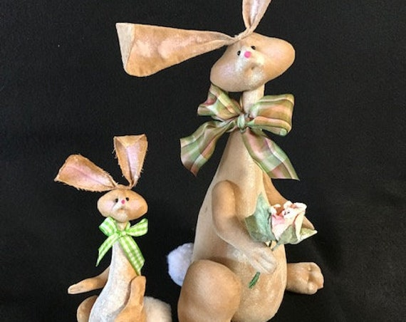 Cloth Doll E-pattern Aria Easter Bunny Rabbit sewing pattern