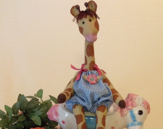 Baby Giraffe - Cloth Doll E-pattern An adorable little baby giraffe sewing design