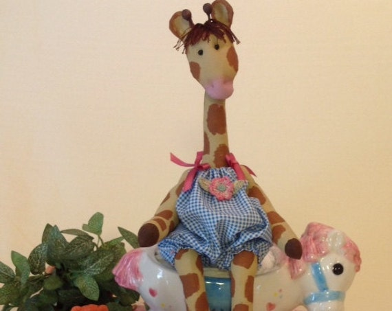 Baby Giraffe - Mailed Cloth Doll Pattern Baby Giraffe sewing pattern