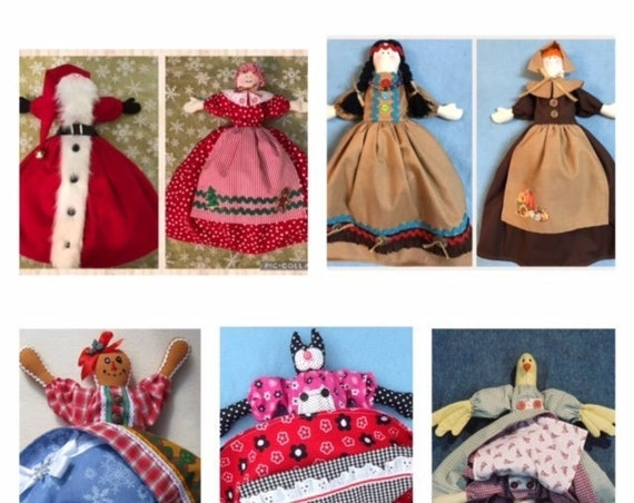 Save Money Buy All 5 Topsy Turvy Doll E-Pattern Collection