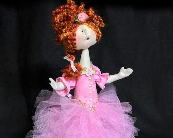 "Mailed Cloth Doll Pattern Amelia 14"" Princess Doll Pattern"