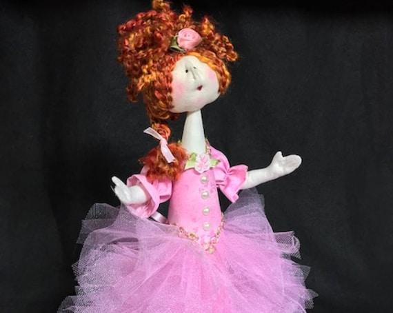 "Mailed Cloth Doll Pattern Amelia 14"" Princess Doll Pattern"