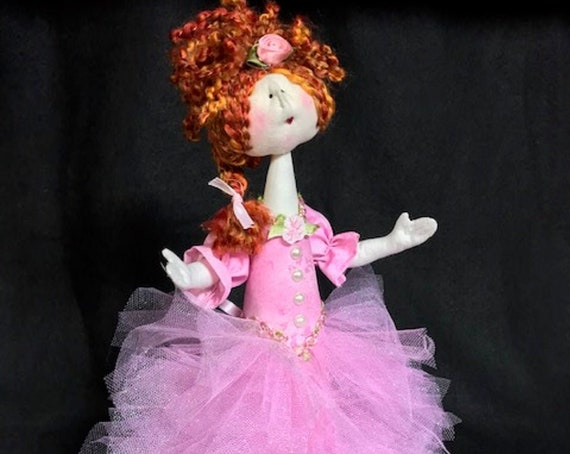 "Digital Download Cloth Doll E-Pattern Amelia 14"" Princess Doll"