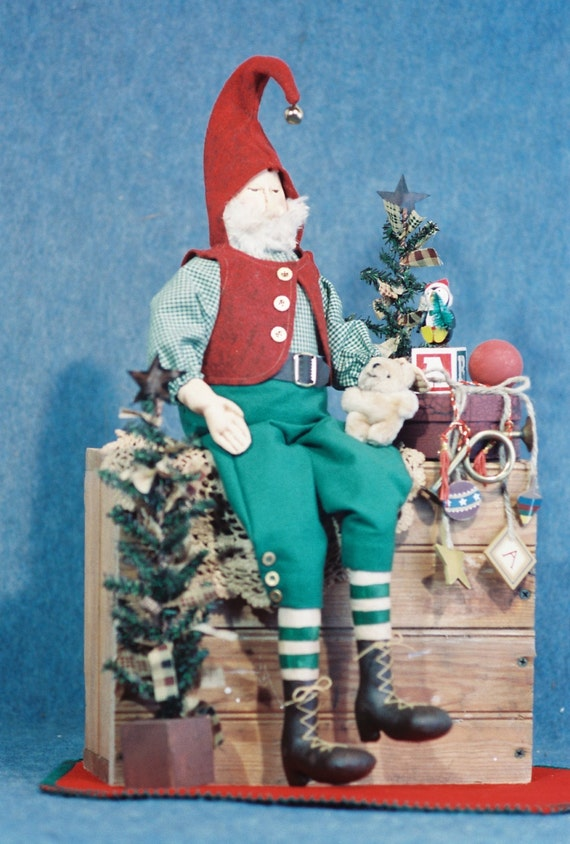 Matthew - Cloth Doll E-Pattern - 24in Christmas Elf Doll Epattern
