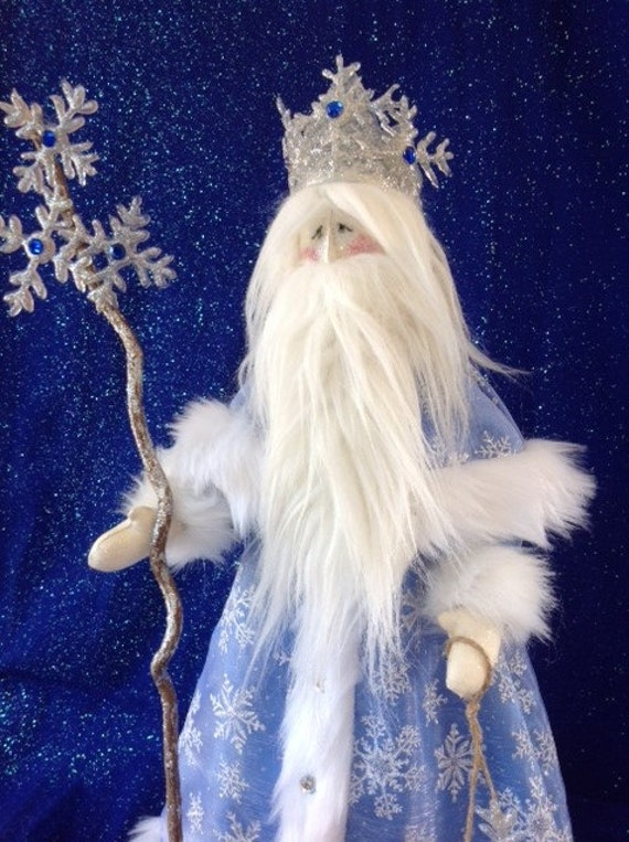 "Old Man Winter - Mailed Cloth Doll Pattern 21 1/2"" Old Man Winter Santa Holiday Free Standing Stump Doll Pattern"