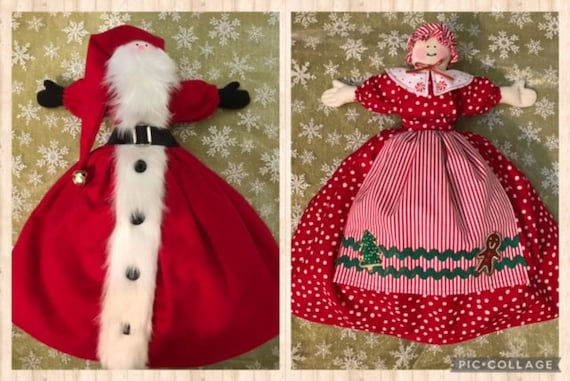 Santa and Mrs. Claus Topsy Turvy Doll  Mailed Christmas Sewing Pattern