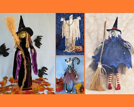 Mailed Cloth Doll Patterns Special Selection of Halloween Patterns