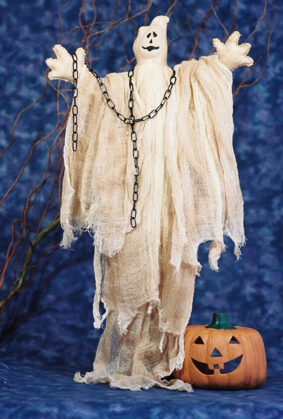 Ghost - Cloth Doll E-Pattern - 30in Halloween Ghost Epattern