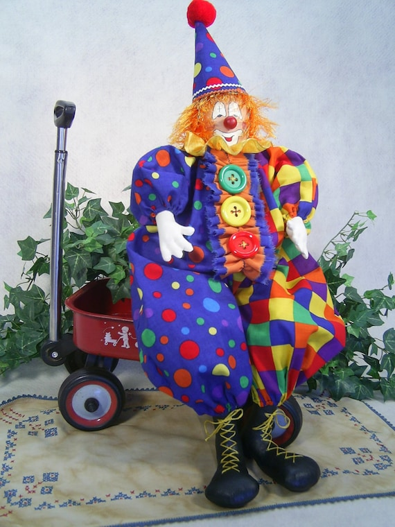 Happy the Clown - Mailed Cloth Doll Pattern - Happy the Circus Clown