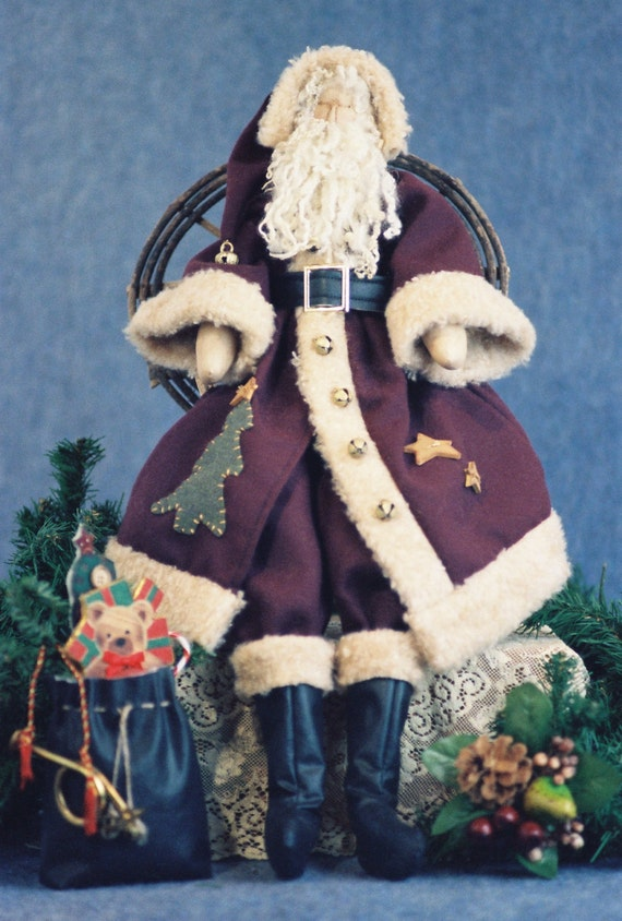 Old World Claus - Mailed Cloth Doll Pattern - 24in Old World Christmas Santa