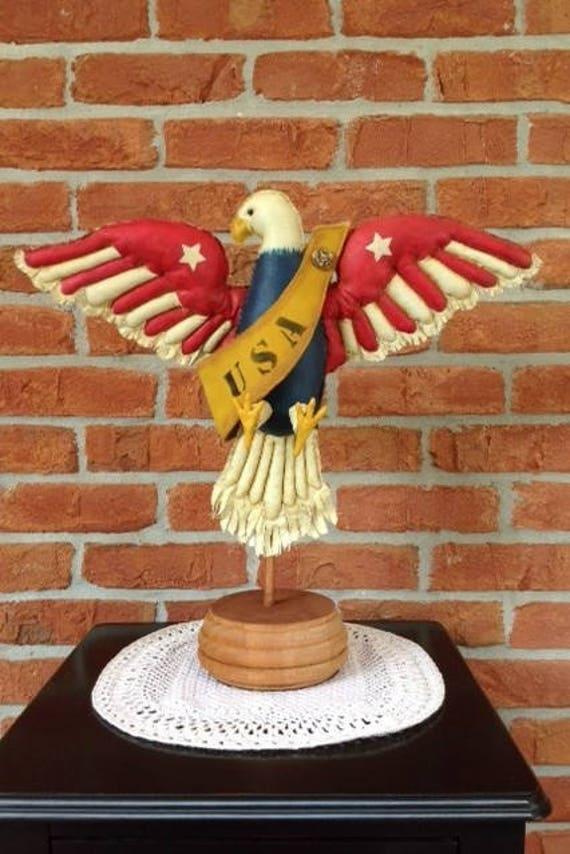Freedom American Eagle - Cloth Doll E-Pattern American Folk Art Eagle