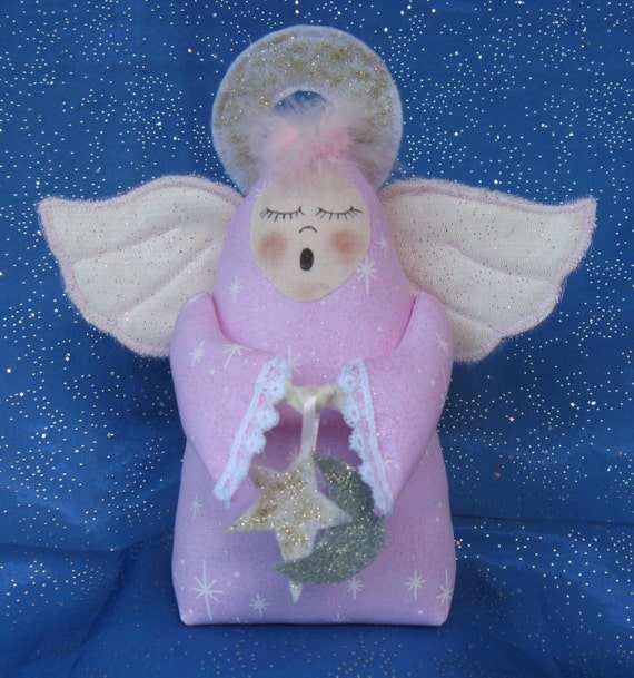 Sleepy Time Angel - Mailed Cloth Doll Pattern an adorable little Angel
