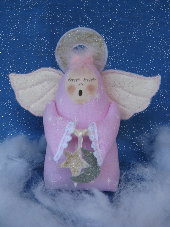 Sleepy Time Angel - Cloth Doll E-Pattern an adorable little Angel