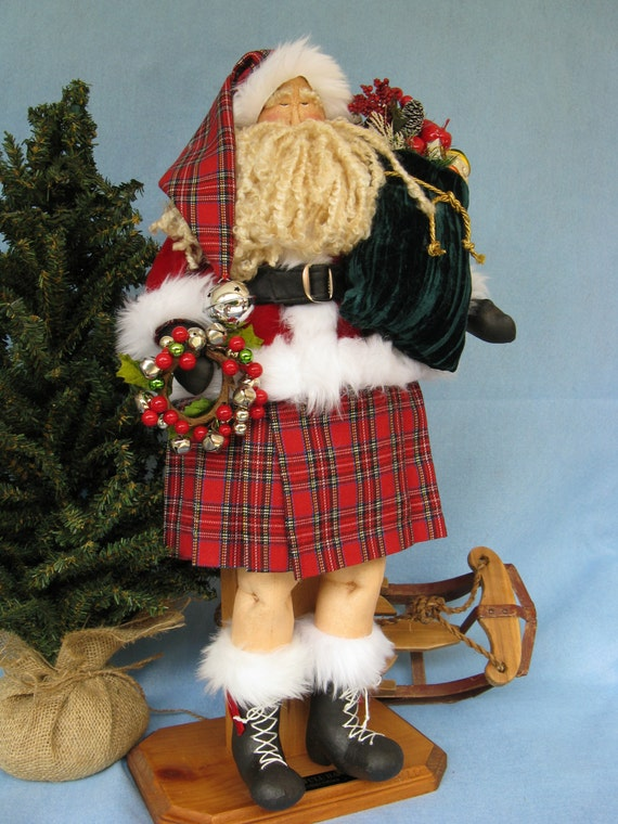 Celtic Santa - Cloth Doll E-Pattern 22 inch Celtic Santa Doll Epattern