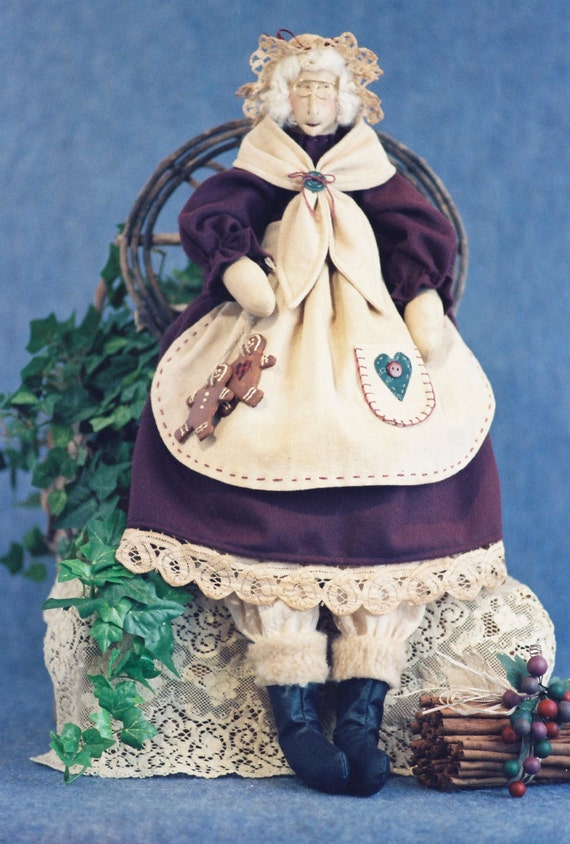 Mrs Claus - Mailed Cloth Doll Pattern - 24in Mrs. Santa Claus
