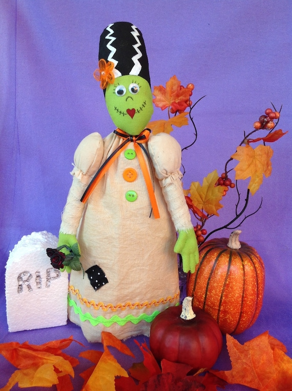 Johnnie - Mailed Cloth Doll Pattern 12in Bride of Frankenstein Halloween Monster