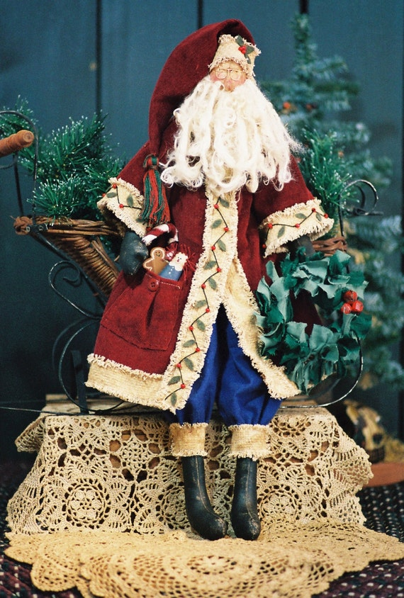 Sinterclaus - Mailed Cloth Doll Pattern 24in Old World Santa Doll