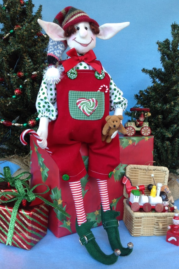 Abner - Cloth Doll E-pattern 19in Fat Bellied Christmas Elf