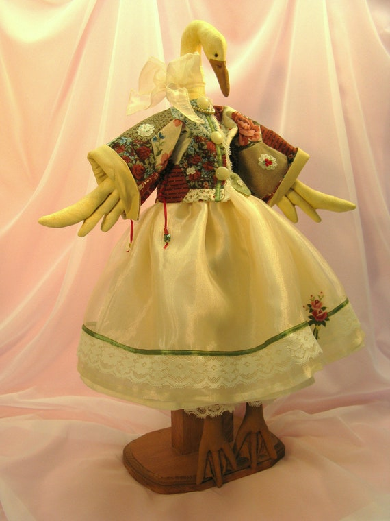 OOAK Doll - Beautiful Handcrafted Victorian Goose Collectible Doll