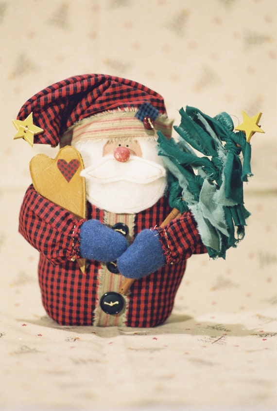 Lil Nick - Mailed Cloth Doll Pattern - Small Christmas Santa Doll