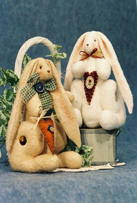 O'Hare - Cloth Doll E-Pattern 10in Cute Sitting Bunny Rabbit