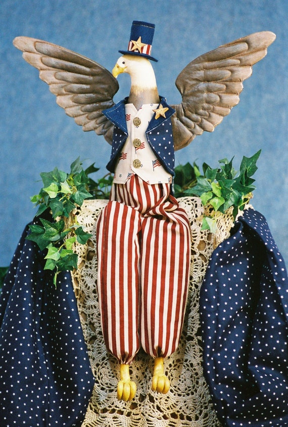 Uncle Sam - Cloth Doll E-Pattern -22in American Eagle