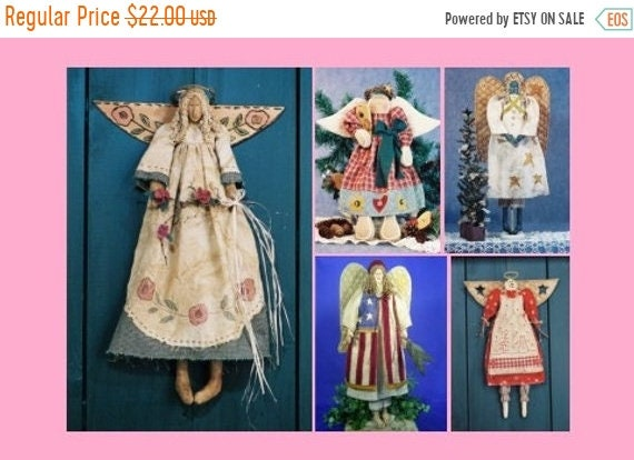 ON SALE Cloth Doll E-Patterns A Collection of Beautiful Angel Patterns